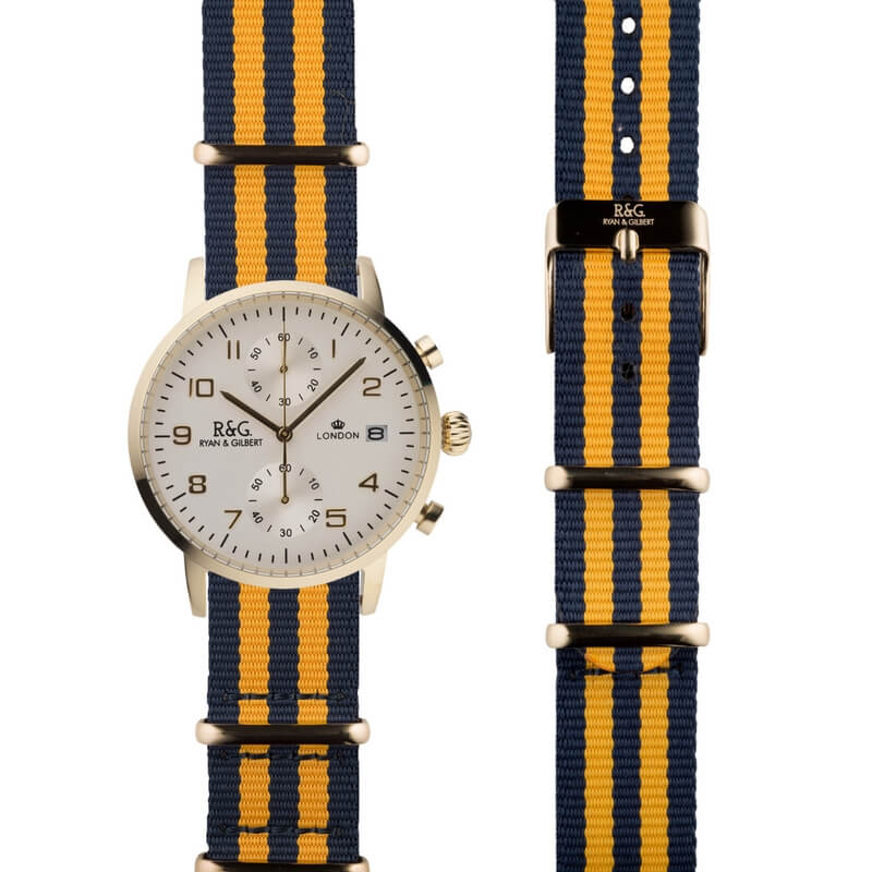 NATO Westminster Gold - Yellow & Navy