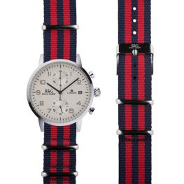 NATO Westminster Silver - Red & Navy