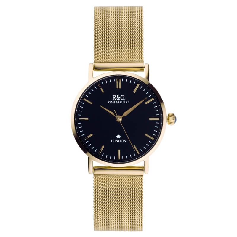 Belgravia Petite in Gold- Black dial