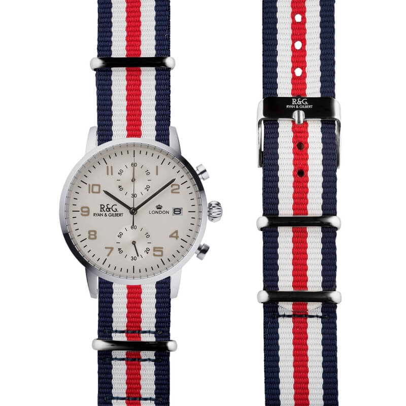 NATO Westminster Silver - Red, White & Blue