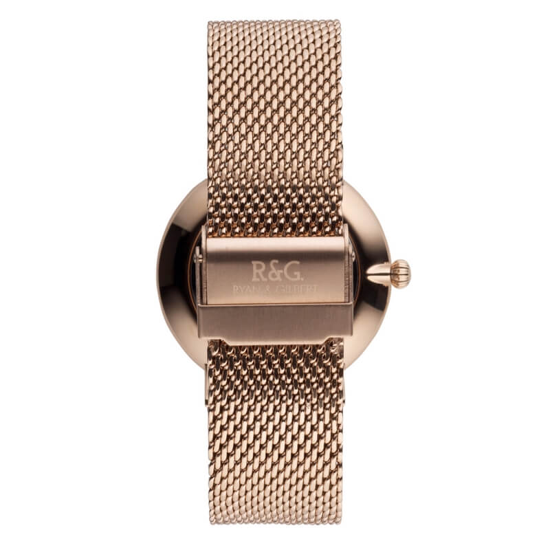 Belgravia Rose Gold Watch rear