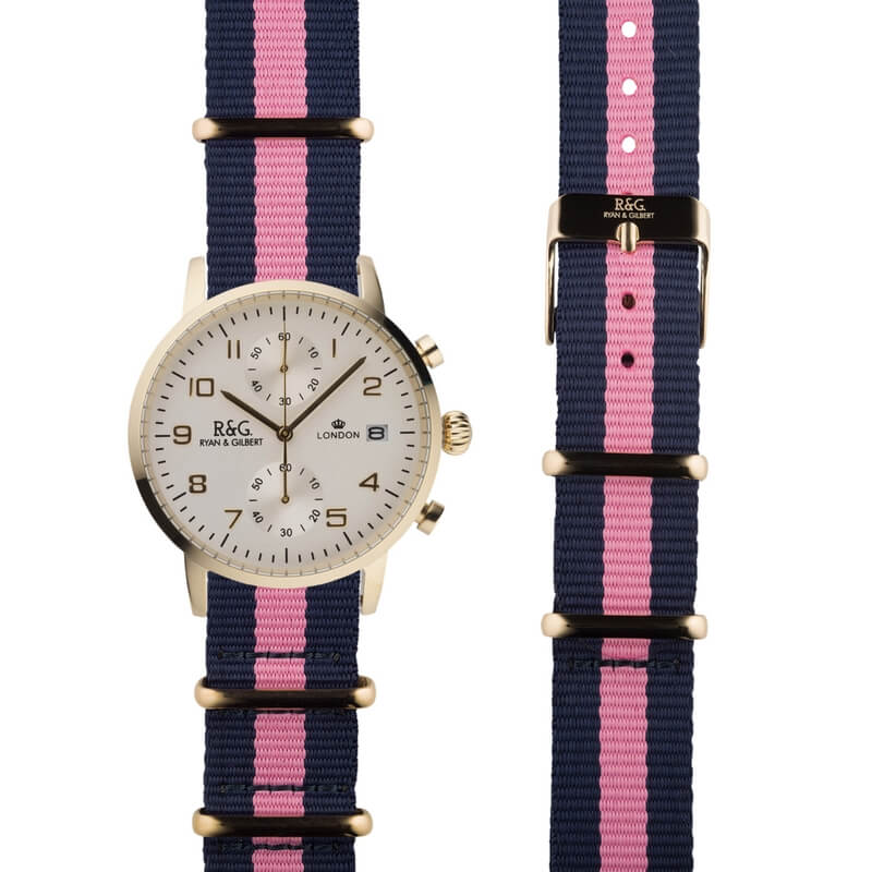 NATO Westminster Gold - Pink & Navy