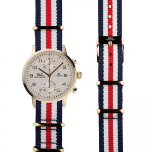 NATO Westminster Gold - Red, White & Blue