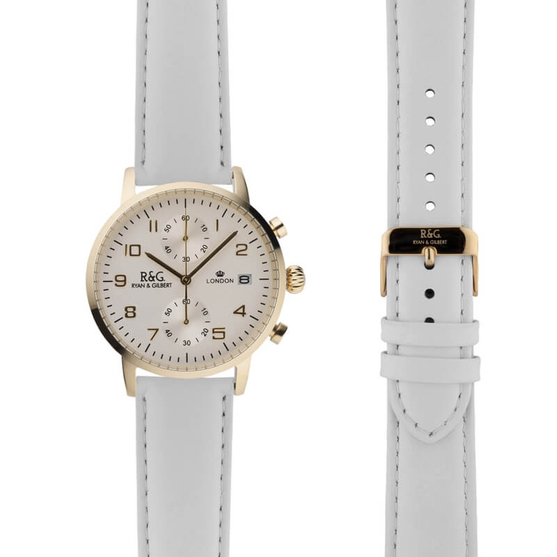 Westminster in Gold- White Strap