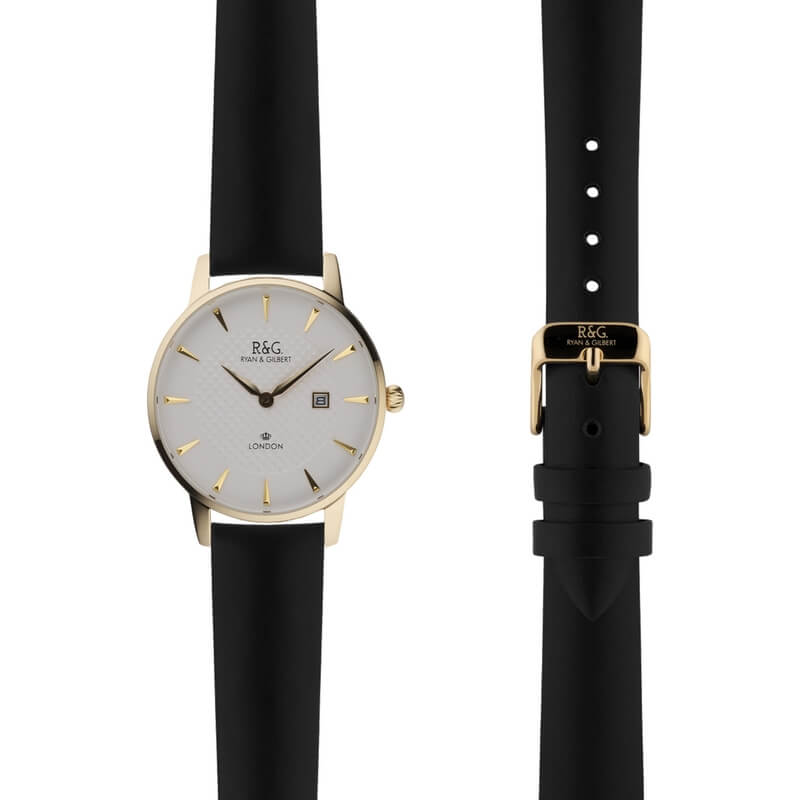 Mayfair in Gold- Black Strap