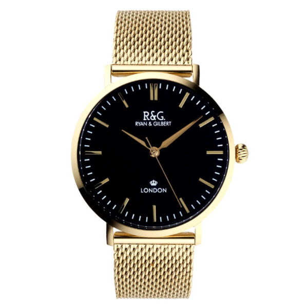 Belgravia watch Gold Black Front