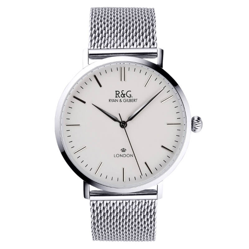 Belgravia watch Silver White Front