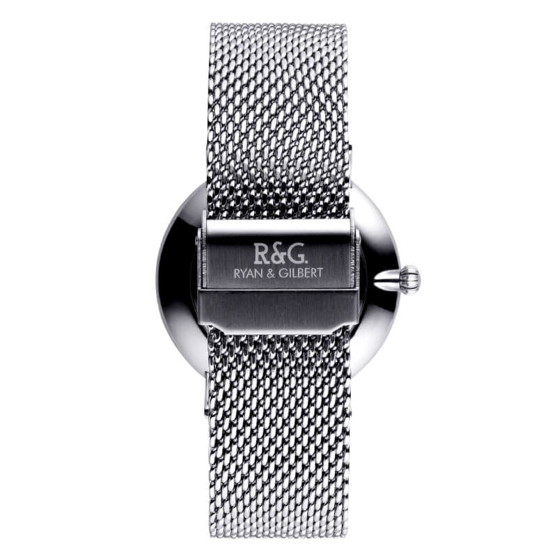 Belgravia watch Silver White rear