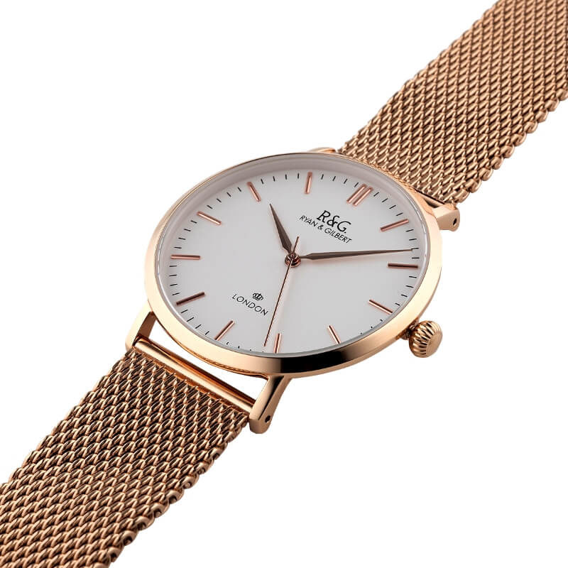 Belgravia English Rose Gold watch long