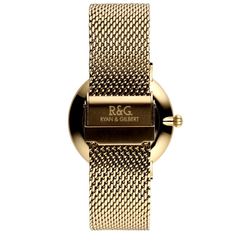 Belgravia watch Gold Black rear