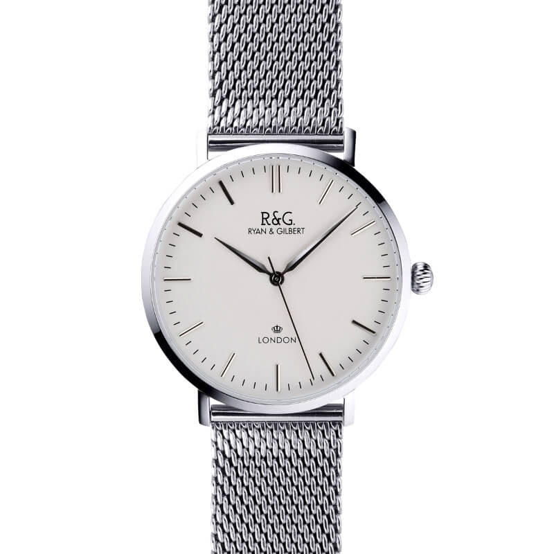 Belgravia watch Silver White long