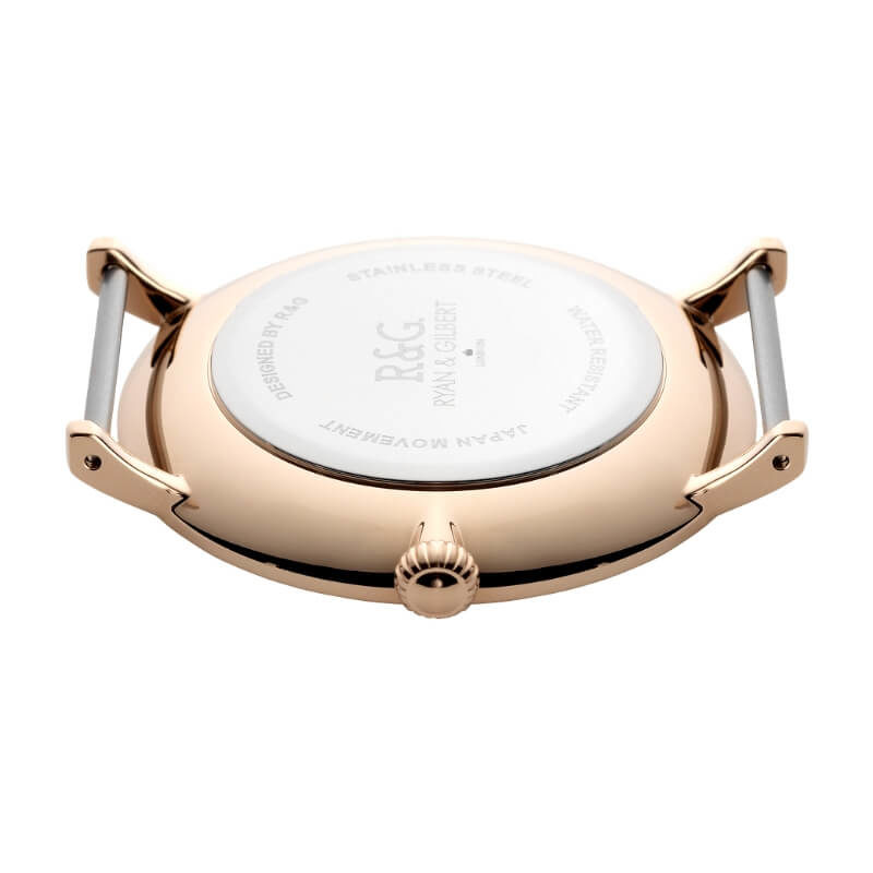 Belgravia English Rose Gold watch back
