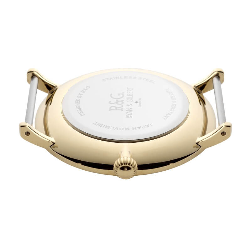 Belgravia watch Gold White back