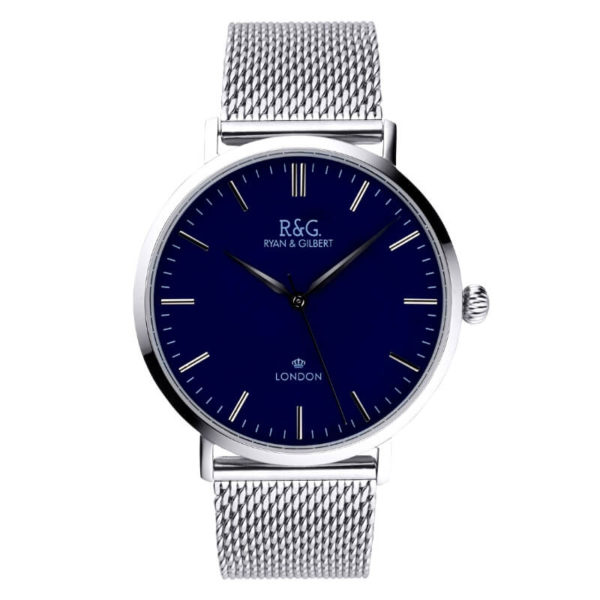 Belgravia watch Silver Navy Front