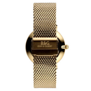 Belgravia watch Gold White rear