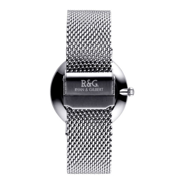 Belgravia watch Silver Navy rear