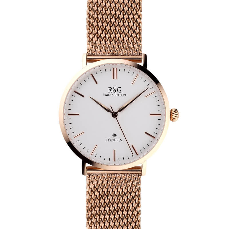 Belgravia English Rose Gold watch Face