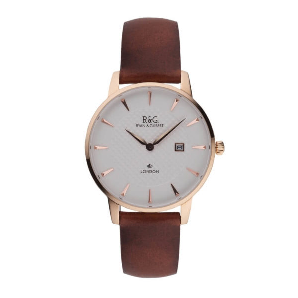 English Rose Gold Mayfair watch