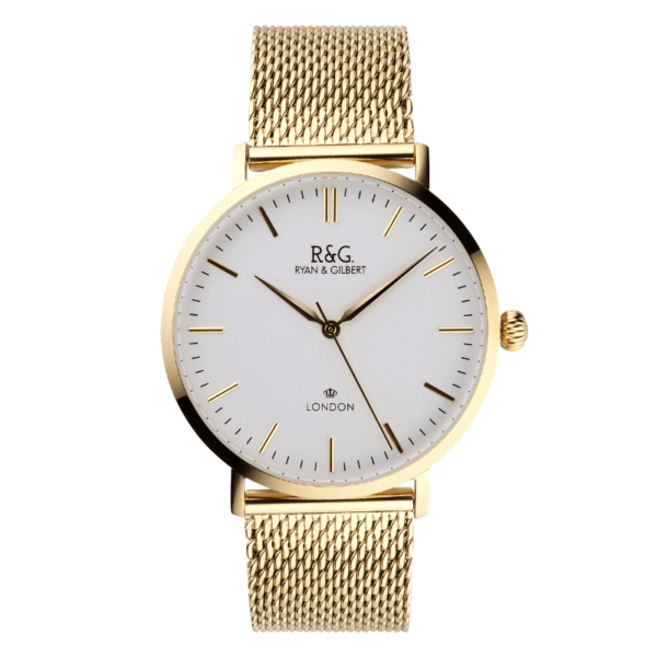 Belgravia watch gold with white dial