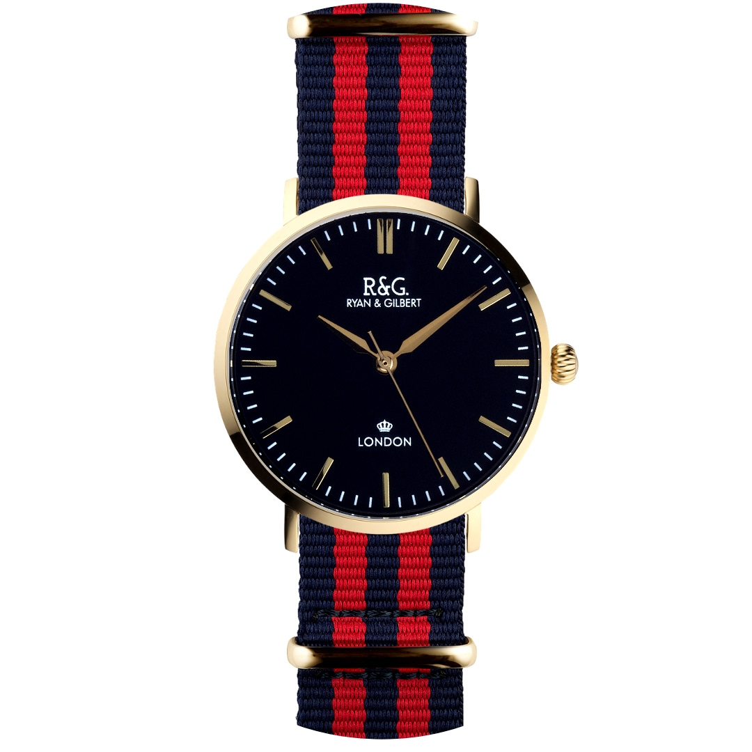 NATO Belgravia Gold / Black - Red