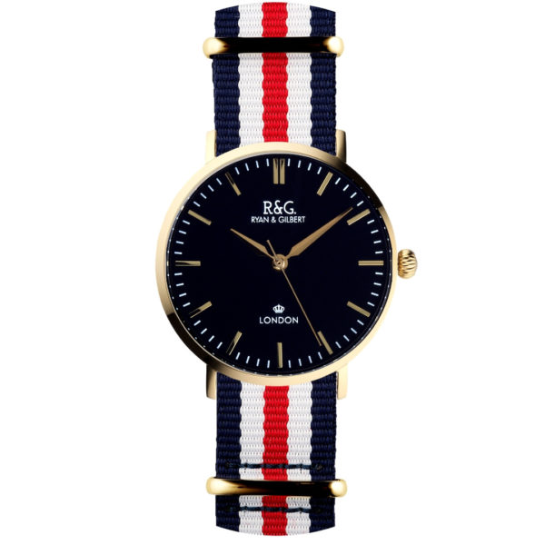NATO Belgravia Gold / Black - Red-white-blue