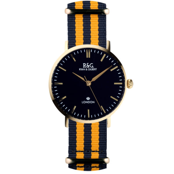 NATO Belgravia Gold / Black - Yellow