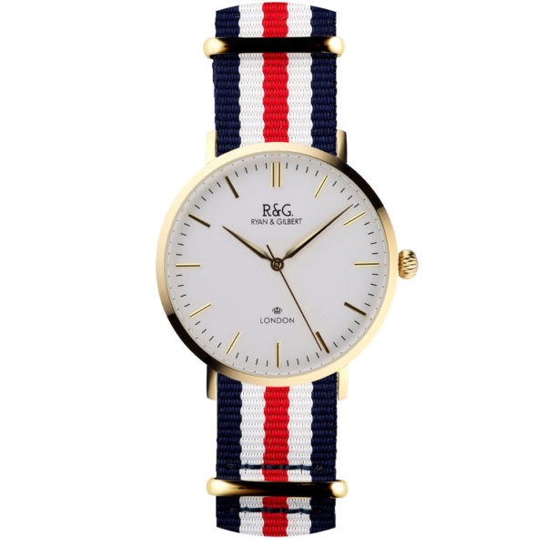 NATO Belgravia Gold / Red, White & Blue