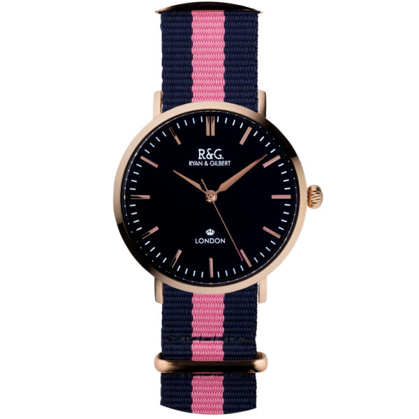 NATO Belgravia Rose Gold / Black - Pink