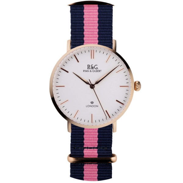 NATO Belgravia Rose Gold / White - Pink