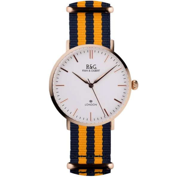 NATO Belgravia Rose Gold / White - Yellow