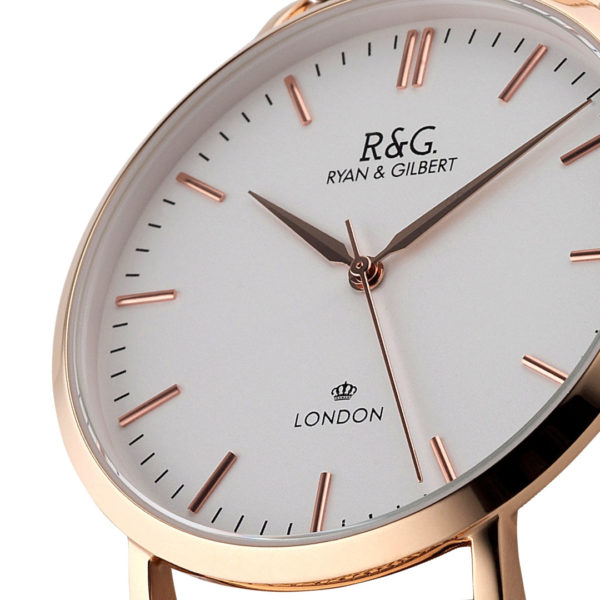 Belgravia Rose Gold / White close up