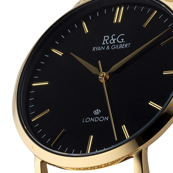 Belgravia Gold / Black close up