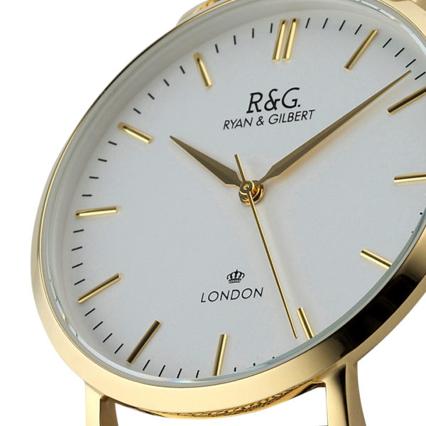 Belgravia Gold / White close up