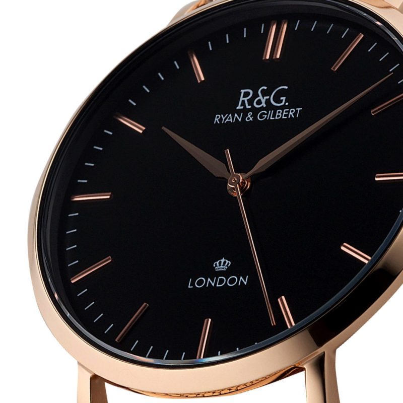 Belgravia Rose Gold / Black close up