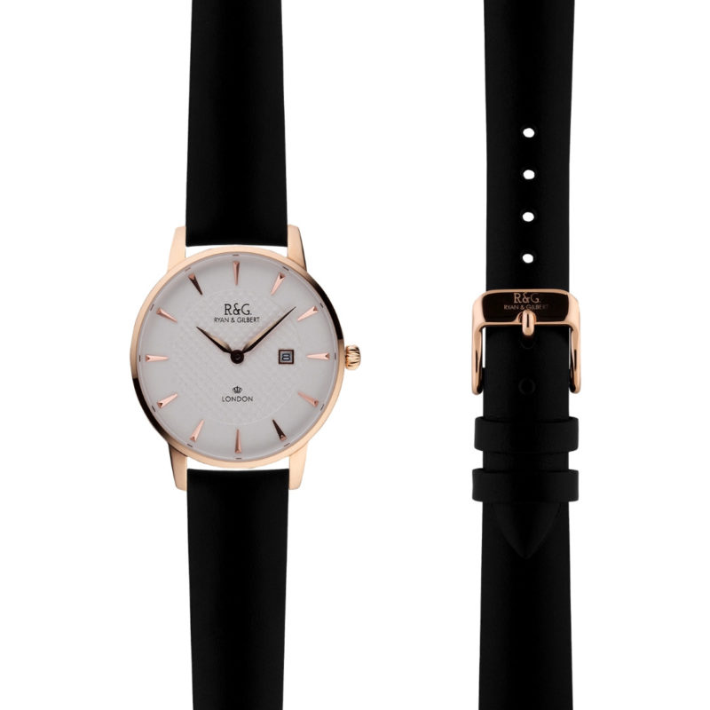 Mayfair Rose Gold Black side by side