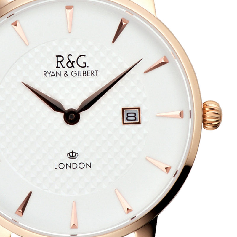 Mayfair Rose Gold Front close