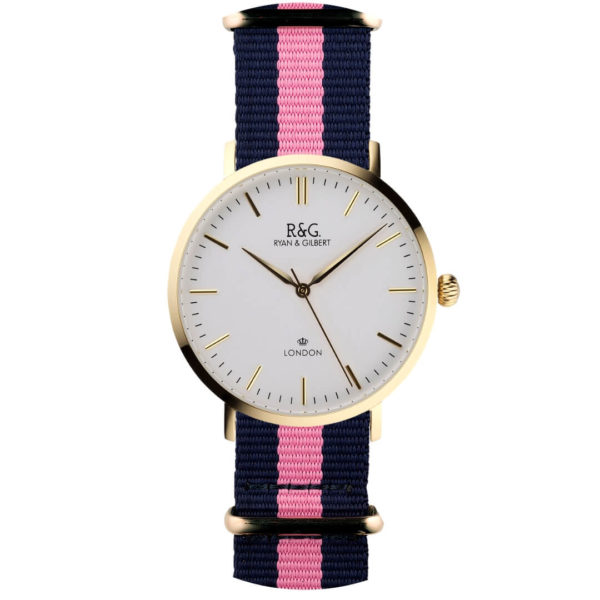 NATO Belgravia Gold / With - pink