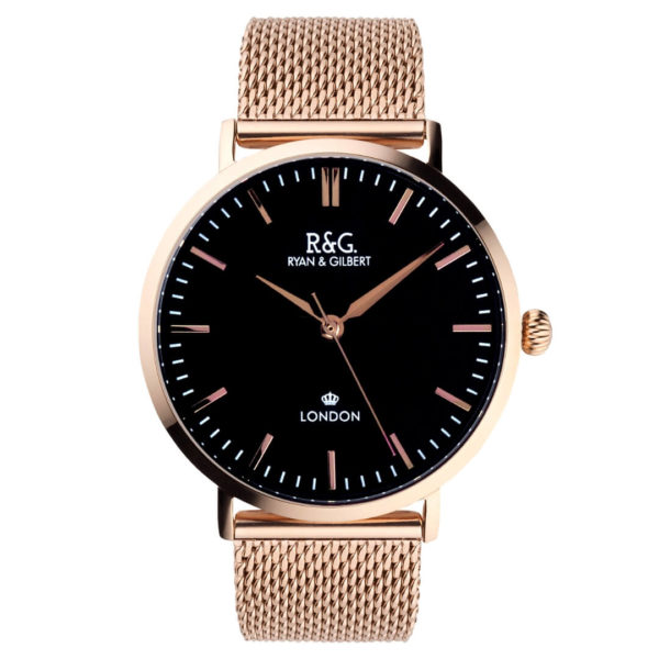Belgravia watch Black dial Rose gold