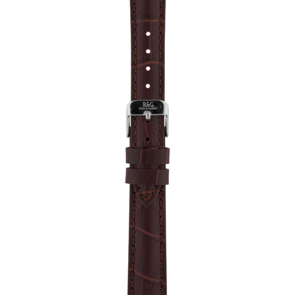 16mm | Brown Alligator Watch strap | Silver Buckle