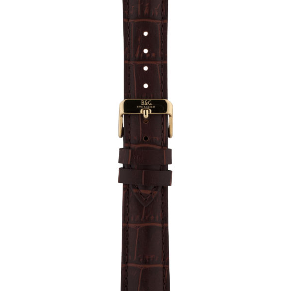 20mm | Brown Alligator Watch strap | Gold Buckle