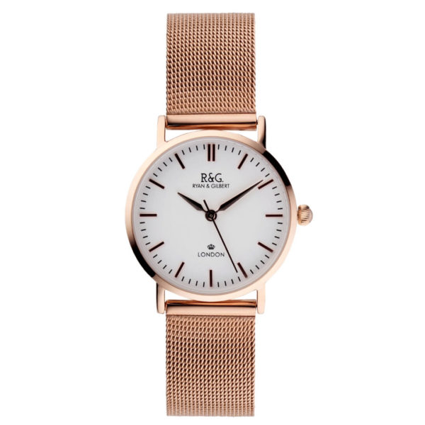 Belgravia Petite - English Rose Gold - White dial