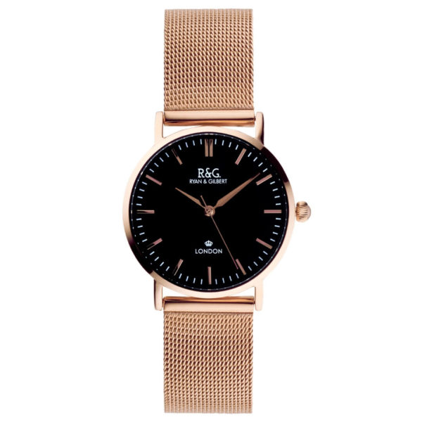 Belgravia Petite - English Rose Gold - Black dial